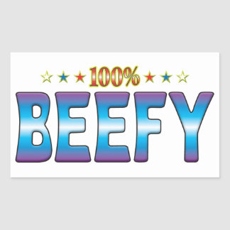 Beefy Star Tag v2 Rectangle Stickers