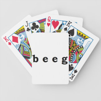 beeg bicycle playing cards