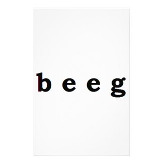 beeg stationery