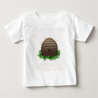 Beehive and bee swarm infant t-shirt