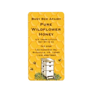 Beehive and Honeycomb Personalized Apiary Style 2