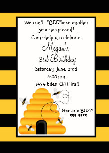 Bumble bee birthday invitations zazzle beehive bumble bee birthday invitations filmwisefo