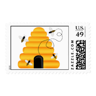 Beehive Bumble Bee Postage Stamps
