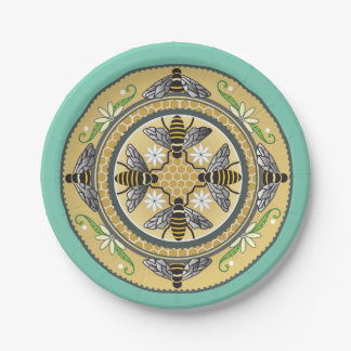 beehive customizable paper plates