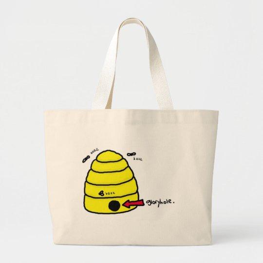 Beehive Gloryhole Large Tote Bag