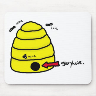 Beehive Gloryhole Mouse Pad