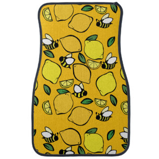 Beehive Lemonade pattern Car Mat