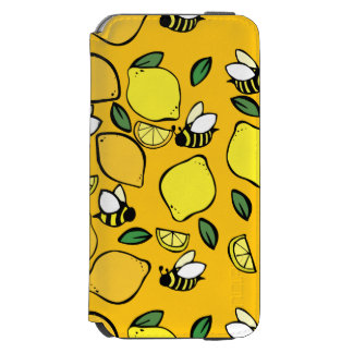 Beehive Lemonade pattern iPhone 6/6s Wallet Case
