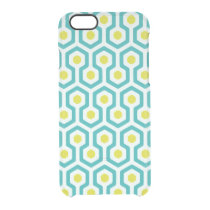 Beehive Pattern Clear iPhone 6/6S Case
