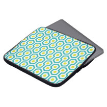 Beehive pattern White/Light Blue/Greenish Yellow Laptop Sleeves