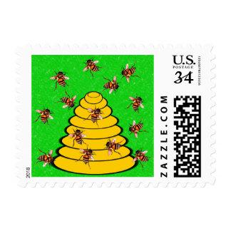 """Beehive """"The Beehive State"""" (Utah) Postage"""