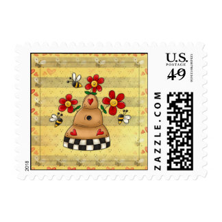 Beehive US Postage Stamps