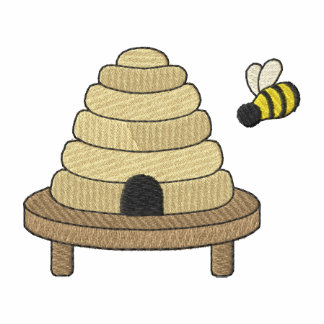Beehive with bee
