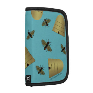 Beehives Bees on Soft Blue Organizers