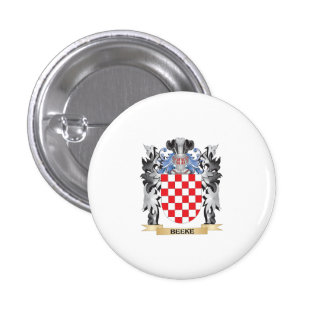 Beeke Coat of Arms - Family Crest 1 Inch Round Button