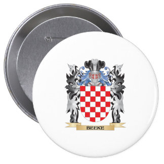 Beeke Coat of Arms - Family Crest 4 Inch Round Button