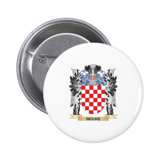 Beeke Coat of Arms - Family Crest 2 Inch Round Button