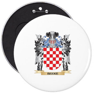 Beeke Coat of Arms - Family Crest 6 Inch Round Button