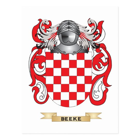 Beeke Coat of Arms (Family Crest) Postcard