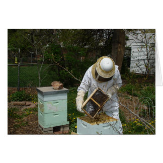 Beekeeper Adds Honeybees Stationery Note Card