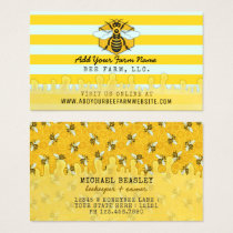 Beekeeper Apiarist Bee Farm | Honeybees Honeycomb Business Card