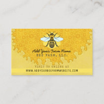 Beekeeper Apiarist Bee Farm Honeybees Honeycomb Business Card
