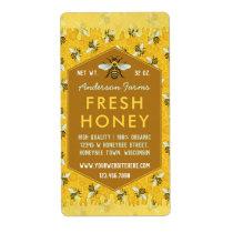 Beekeeper Apiary Honey Jar Labels Honeycomb Bees