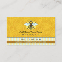 Beekeeper Bee Farm Apiarist Honeybees Honeycomb Business Card