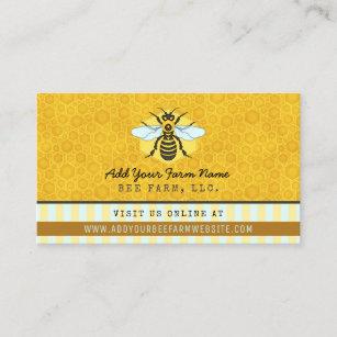 Farm business cards templates zazzle beekeeper bee farm apiarist honeybees honeycomb business card colourmoves