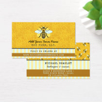 Beekeeper Bee Farm Apiarist Honeybees Honeycomb Business Card