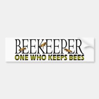 BEEKEEPER bumper sticker Car Bumper Sticker