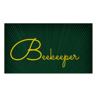Beekeeper Green and Gold Business Card