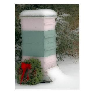 Beekeeper Holiday Postcard