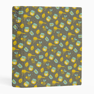 Beekeeper Honey Dipper Pattern Mini Binder