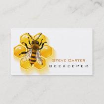 Beekeeper , Honey Seller Bee Farm Farmer Shop Business Card