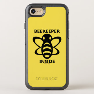 Beekeeper Inside Black White Bee Drawing OtterBox Symmetry iPhone 8/7 Case