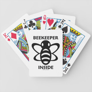 Beekeeper Inside (Black White Bee Drawing) Poker Deck