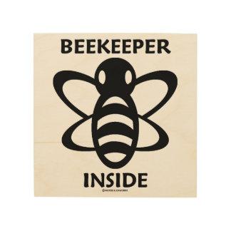 Beekeeper Inside Black White Bee Drawing Wood Wall Art