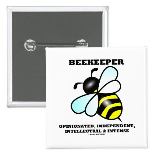 Beekeeper Opinionated Independent Intellectual 2 Inch Square Button