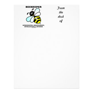 Beekeeper Opinionated Independent Intellectual Customized Letterhead