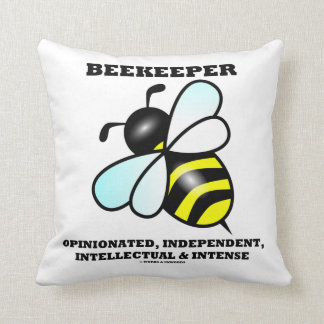 Beekeeper Opinionated Independent Intellectual Pillow