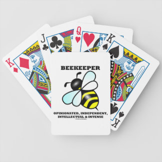 Beekeeper Opinionated Independent Intellectual Bicycle Playing Cards
