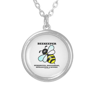 Beekeeper Opinionated Independent Intellectual Silver Plated Necklace