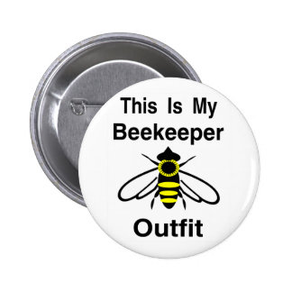 Beekeeper Outfit Pinback Buttons