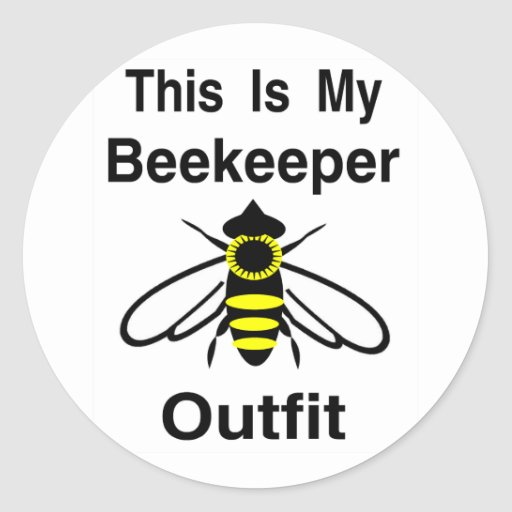 Beekeeper Outfit Classic Round Sticker
