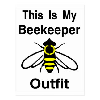 Beekeeper Outfit Postcard