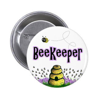 beekeeper pinback button