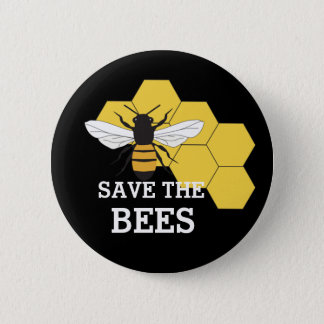 Beekeeper Save the Bees Button