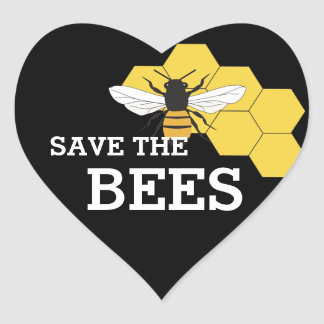 Beekeeper Save the Bees Heart Sticker