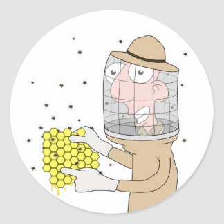 Beekeeper Classic Round Sticker